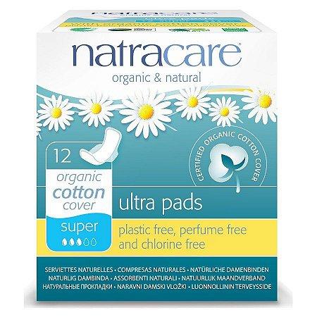 Absorvente Natracare Ultra Pads Super com abas 12 unidades
