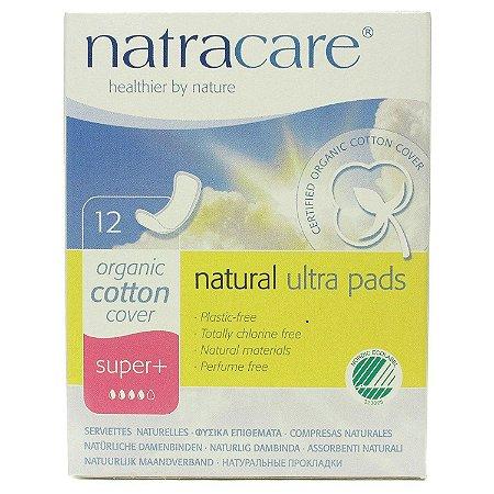 Absorvente Natracare Ultra Pads Super+ sem abas 12 unidades