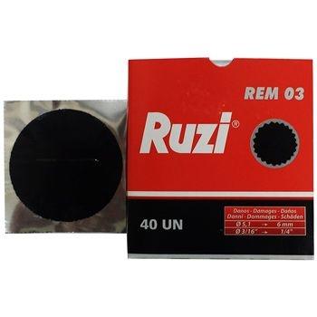 Remendo a frio REM 03 caixa com 40 peças de 060mm - Ruzi