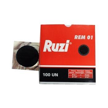 Remendo a frio REM 01 caixa com 100 peças de 040mm - Ruzi