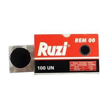 Remendo a frio REM 00 caixa com 100 peças de 030mm - Ruzi