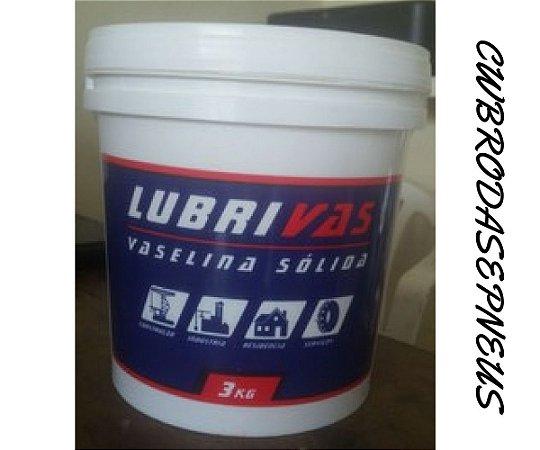 Lubrificante para montagem pneus 3.lt Vaselina Solida LUBRIVAS