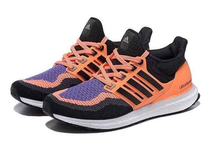 Tênis Adidas Ultra Boost - Feminino - Preto/Laranja