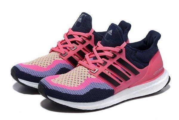 Tênis Adidas Ultra Boost - Feminino - Rosa/Azul Marinho