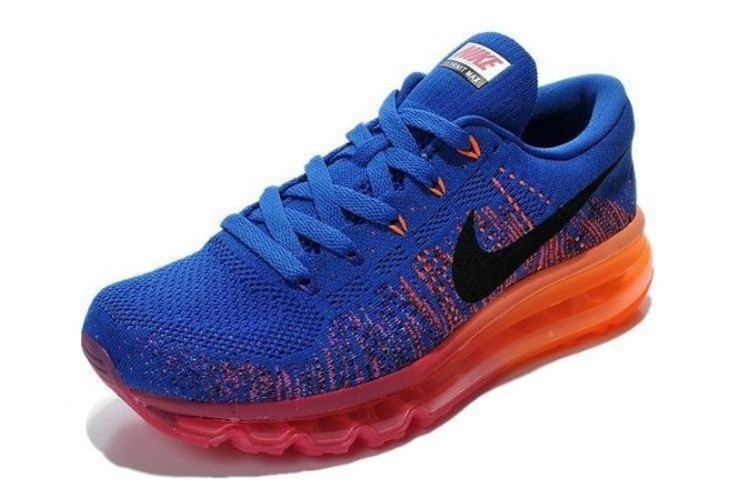 Tênis Nike  Flyknit Air Max - Feminino - Azul Escuro/Rosa
