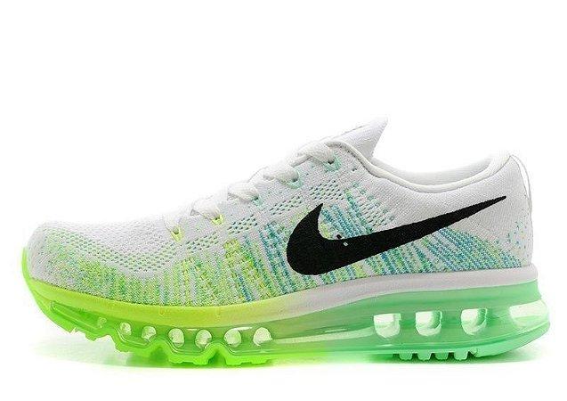 Tênis Nike  Flyknit Air Max - Feminino -  Branco/Verde