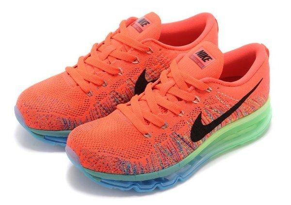 Tênis Nike  Flyknit Air Max - Feminino - Laranja
