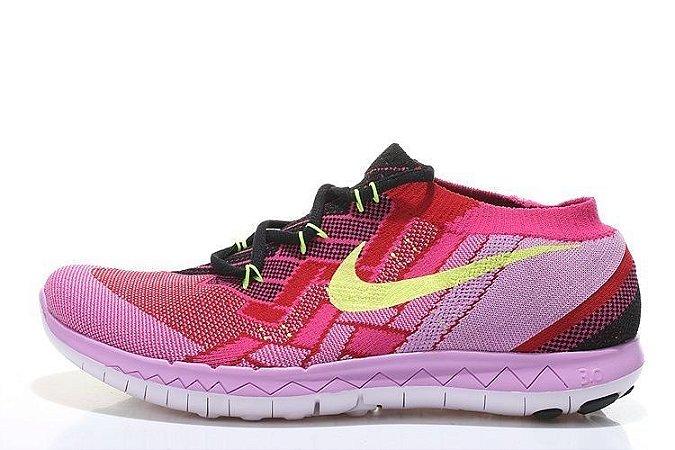 Tênis Nike FREE 3.0 Flyknit - Feminino - Lilás