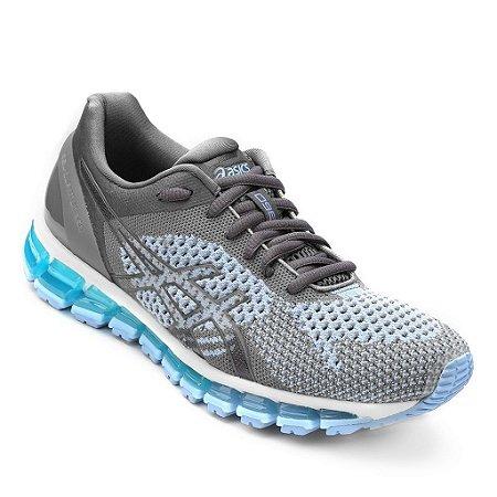 903612c15 Asics Gel Quantum 360 Knit Cinza e Azul - Calçados50off® - Compre ...