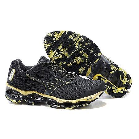 1bfda6d29f Mizuno Wave Prophecy 4 Preto e Amarelo - Calçados50off® - Compre Seu ...