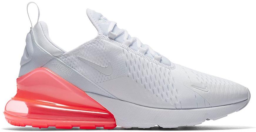 70a93130e8 Tênis Nike Nike Tênis Air Max 270 Branco e Rosa Calçados50off® Compre Seu  e119ff