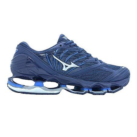 b07015c61a3 Tênis Mizuno Wave Prophecy 8 - Azul Escuro - Calçados50off® - Compre ...