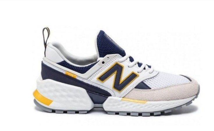Tênis New Balance 574 - Branco e Amarelo