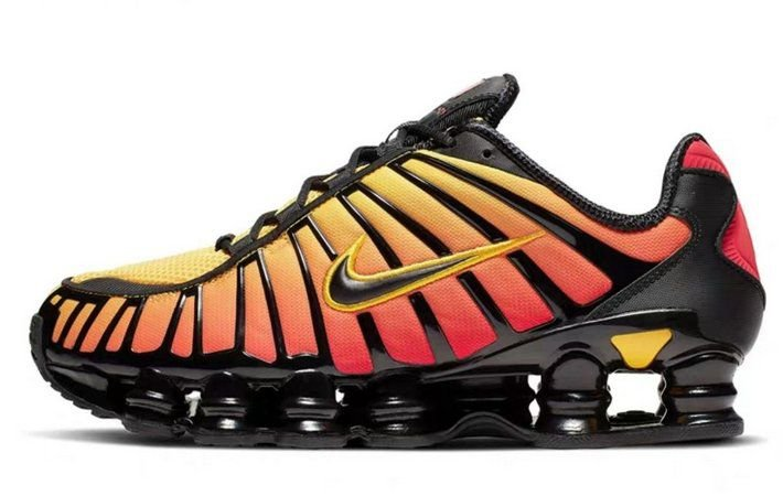 Tênis Nike Shox Tl 12 molas Neymar Jnr - Amarelo e Laranja