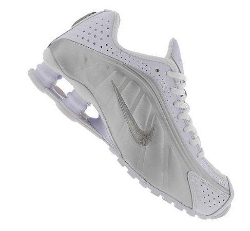 Tênis Nike Shox R4 - Bege e Branco
