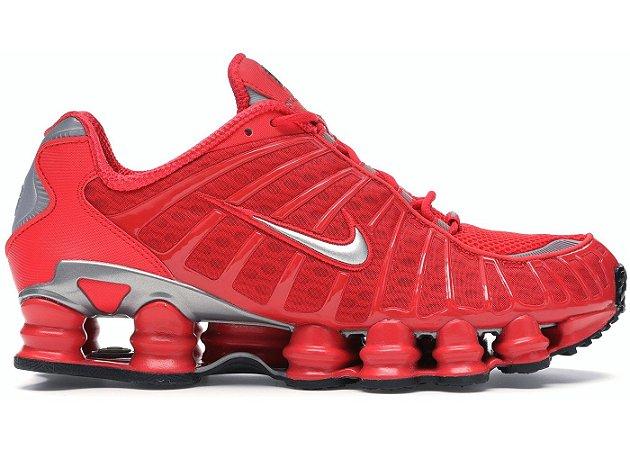 Tênis Nike Shox Tl 12 molas Neymar Jnr - Vermelho