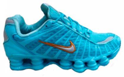 Tênis Nike Shox Tl 12 molas Neymar Jnr - Azul Bebê