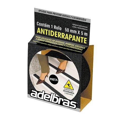 Fita Antiderrapante 50mm x 5m Preto - Adelbras