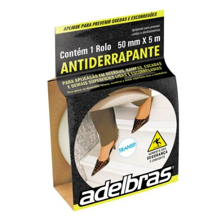 Fita Antiderrapante 50mm x 5m Transparente - Adelbras