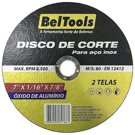Disco De Corte Inox 7x1/16 X 7/8 Beltools