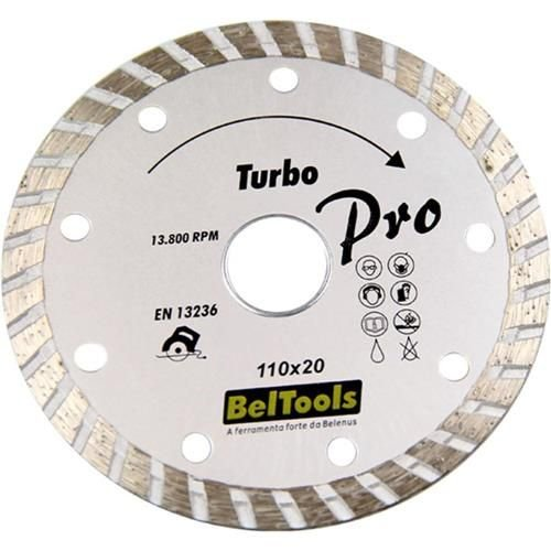 Disco de Corte Diamantado Turbo 110x20 - Beltools