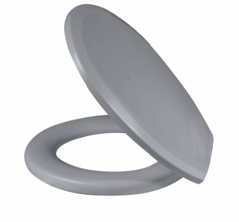 Assento Sanitário Almofadado Plus Cinza Claro