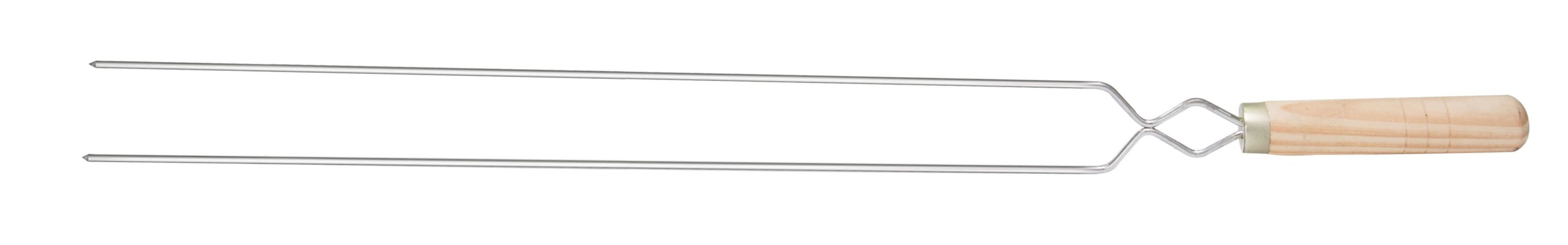 Espeto Duplo Pequeno 55cm Cromado