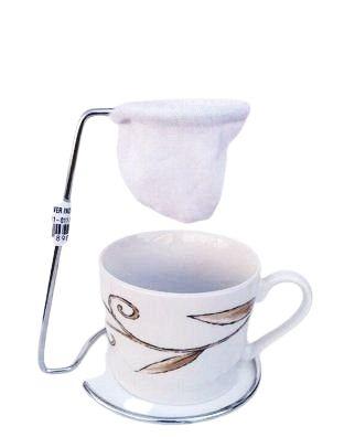 Mini coador de café cromado