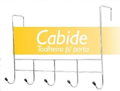 Cabide Toalheiro para porta 5 Ganchos cromado