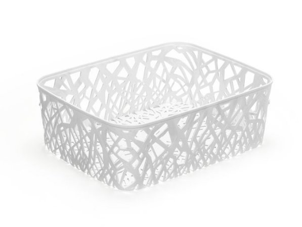 Cesto Mosaico 10 Litros Branco - Arthi