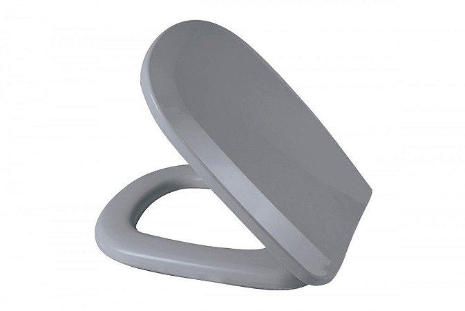 Assento Sanitário Almofadado Perfecto Multi Cinza Claro