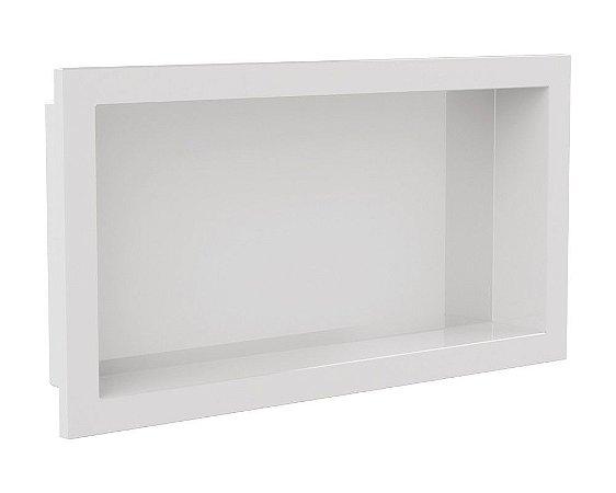 Nicho de banheiro plástico para Embutir - Branco