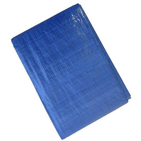 Lona Carreteiro Polietileno Azul 2x2M 105g/m² - Starfer
