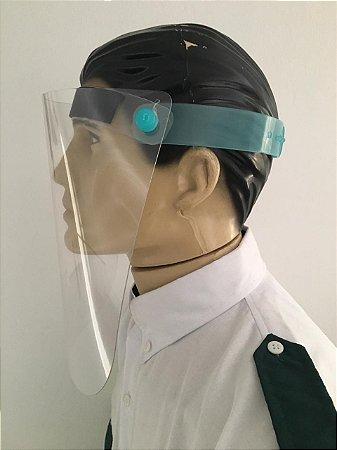 kit 10 Máscara Para Proteção Facial Viseira Plástica
