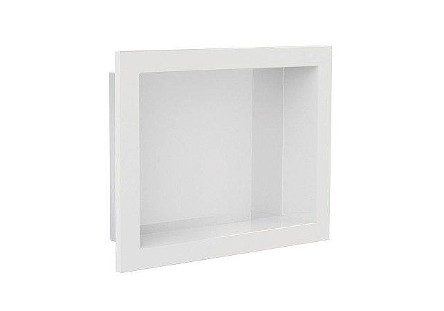 Nicho de banheiro plástico para Embutir 30x40 - Branco