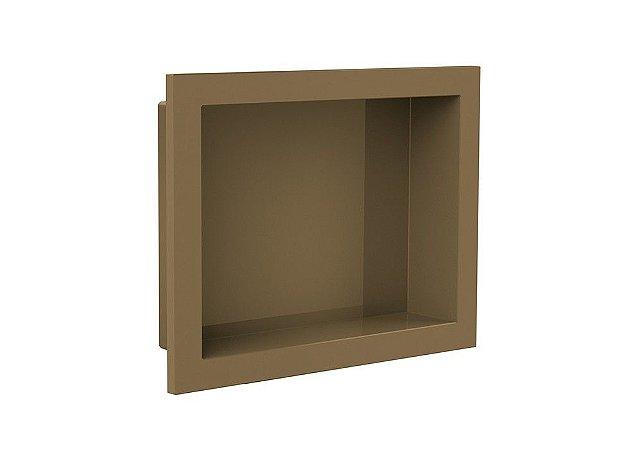 Nicho de banheiro plástico para Embutir 30x40 - Bronze