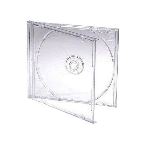 Caixa para CD / DVD - Padrão Transparente - Para 1 Disco - Cx c/ 200 Und.