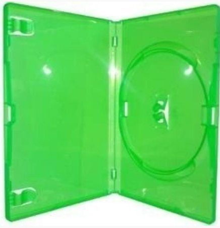 Caixa para DVD Padrão Transparente e Colorida Para 1 Disco - Cx c/ 50 Unidades