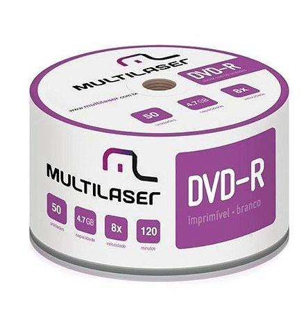 DVD-R 4.7GB/120MIN 1-8x - Multilaser - Printable - 600 Unidades