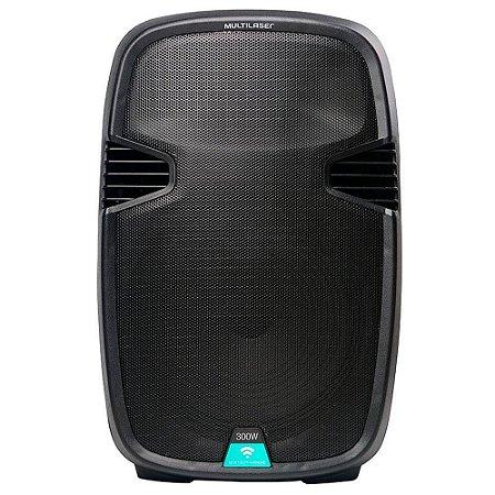 Caixa de Som Amplificadora 300W (RMS) - Bluetooth/USB/SD/FM/AUX - Multilaser- SP220