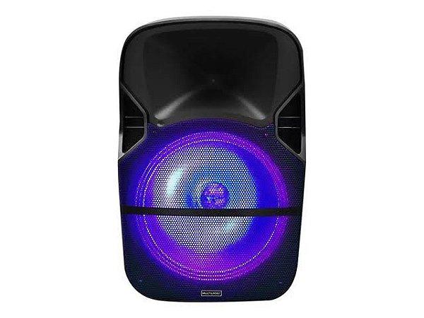 Caixa de Som Amplificada Trolley 150W (RMS) - 12 Pol - LED RGB - BT/USB/SD/FM/P2 - Multilaser - SP259
