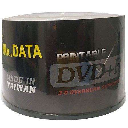 DVD-R Dual Layer 8.5GB/240min 8x - Mr. Data - Printable - 50 Unidades