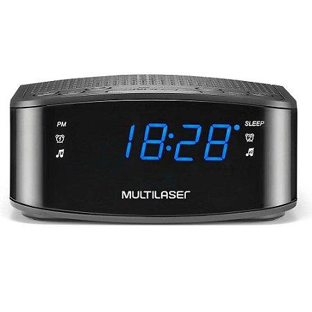 Radio Relógio e Despertador Digital Multilaser - SP288