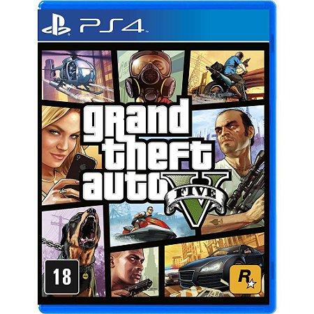 Jogo Grand Theft Auto V - GTA5 para Ps4 - Mídia Física Lacrado