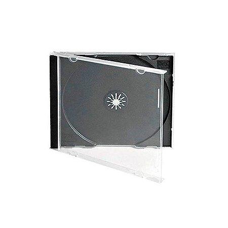 Caixa para CD / DVD - Padrão Fundo Preto em Acrílico – Para 1 Disco - Cx c/ 30 Und.