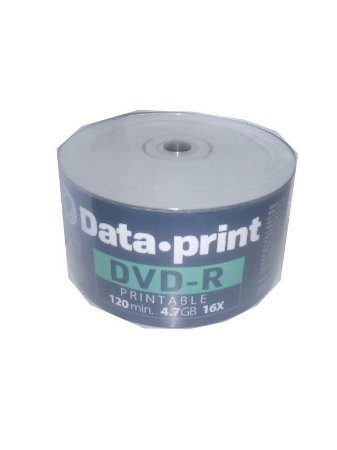 DVD-R 4.7GB 1-16X - Data Print - Printable - 50 Unidades