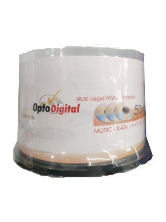 DVD+R 8.5GB 8X Dual Layer Printable - Opto Digital - 50 Unidades