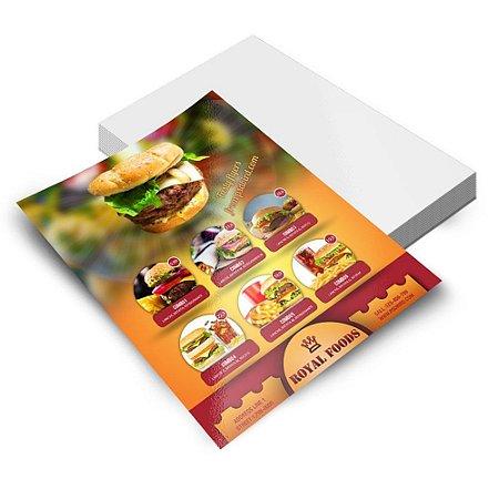 Cartazes | Posteres - 420x594mm Couchê - 115g - 4x0 Sem Verniz - Refile