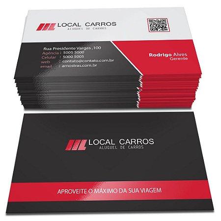 Cartões de Visita - Laminação Fosca e Verniz Local Frente e Verso - Corte Reto - 48x88mm - Couchê 300g