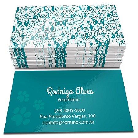 Cartões de Visita - Verniz Total Frente - Corte Reto - 48x88mm - Couchê 250g